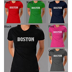 Los Angeles Pop Art Women's Boston T-shirt