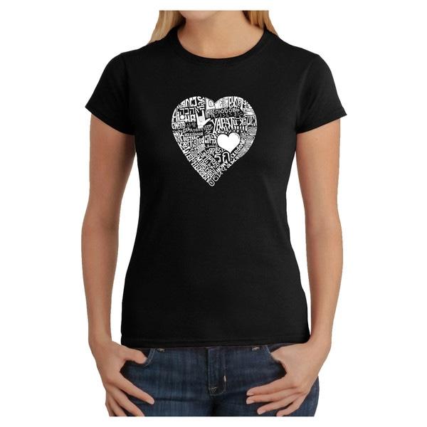 Los Angeles Pop Art Women's Heart T-shirt
