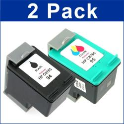 HP 94/95 Black/Color Ink Cartridges (Remanufactured) (Pack of 2)