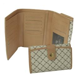 Rioni Signature Natural Multi-fold Button Wallet