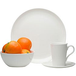 Red Vanilla 16-piece Bone China Coupe Dinnerware Set