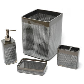 Diamonds are Forever Black 4-piece Bath Accessory Set
