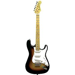 Main Street Double Cut-away Tobacco Sunburst Electric Guitar