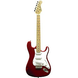 Main Street Double High-gloss Solid Body Cut-away Red Electric Guitar