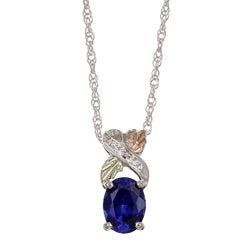 Black Hills Gold and Silver September Birthstone Necklace