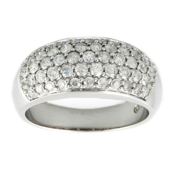 Beverly Hills Charm 14k White Gold 1ct TDW Diamond Dome Ring (H-I, I1-I2)
