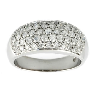 Beverly Hills Charm 14k White Gold 1ct TDW Diamond Dome Ring (H-I, I1-I2)
