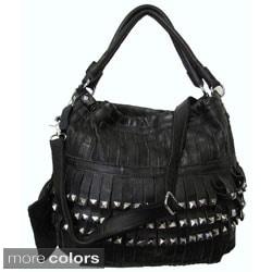 Amerileather 'Tutu' Top-grain Lambskin Leather Handbag