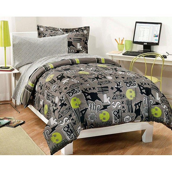 X-Factor 5-piece Twin-size Bed in a Bag with Sheet Set