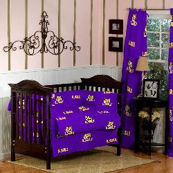 LSU 5-piece Crib Bedding Set