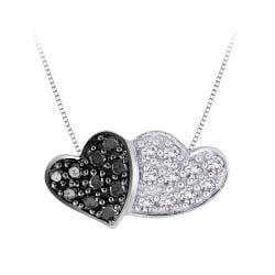 10k White Gold Black and White Diamond Necklace (G-H, I2-I3)