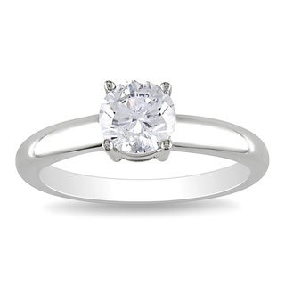 Miadora 14k Gold 1ct TDW Round Diamond Solitaire Ring (G-H, I1-I2)