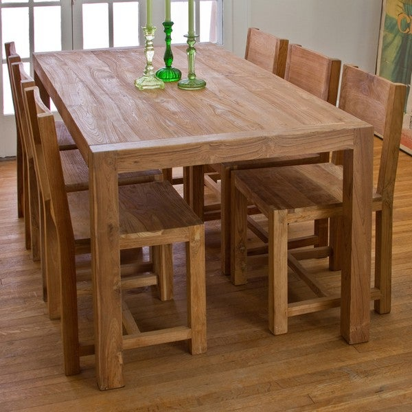 Reclaimed teak 7 piece dining set india 12897578 for Top rated dining tables