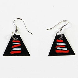 Enamel over Copper Atlantic Sunrise Earrings (Chile)