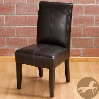 Christopher Knight Home Isabella Dark Brown Patent Leather Children's Dining Chair (Set of 2)