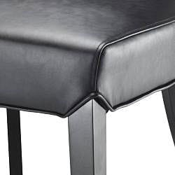 Safavieh Madison Black Leather Side Chairs (Set of 2)