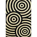 Alliyah Handmade Circle Beige/ Black New Zealand Blend Wool Rug (8' x 10')