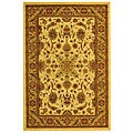 Lyndhurst Collection Ohsak Ivory/ Tan Rug (4' x 6')