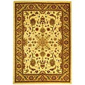 Lyndhurst Collection Ohsak Ivory/ Tan Rug (9' x 12')