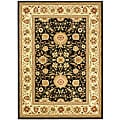 Lyndhurst Collection Majestic Black/ Ivory Rug (4' x 6')