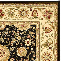 Safavieh Lyndhurst Collection Majestic Black/ Ivory Rug (9' x 12')