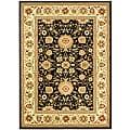 Safavieh Lyndhurst Collection Majestic Black/ Ivory Rug (9' x 12')