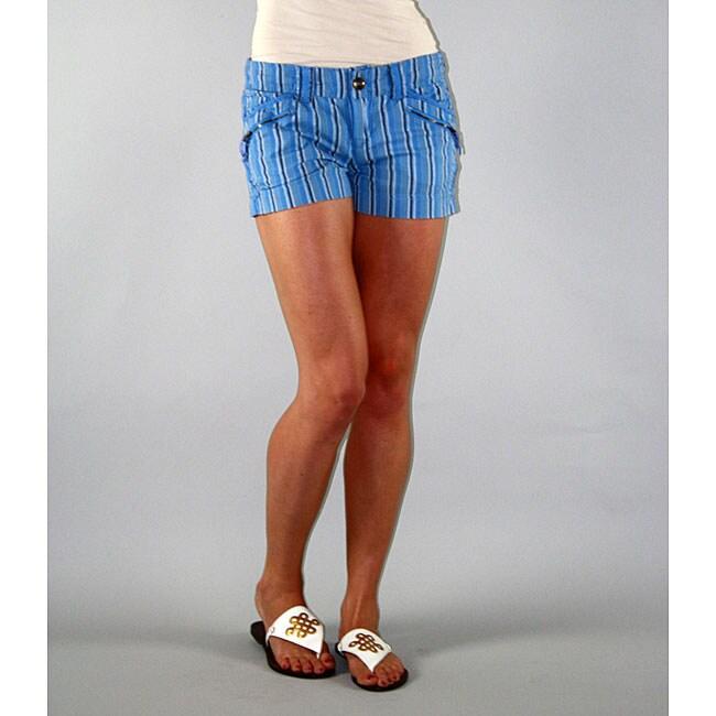 Institute Liberal Women's Blue Stripe Shorts