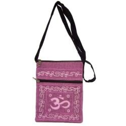 Handmade Cotton Om Passport Bag (Nepal)