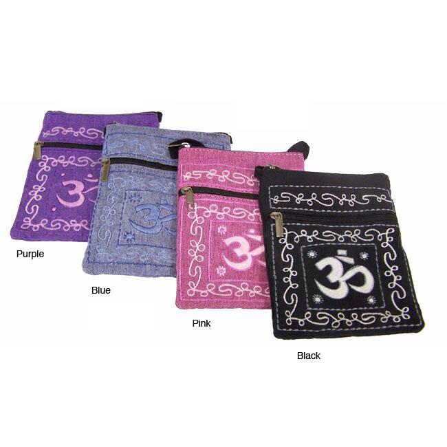 Handmade Cotton Om Passport Bag (Nepal)