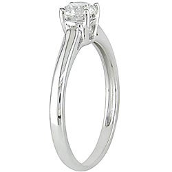 Miadora 14k White Gold 1/2ct TDW Diamond Solitaire Engagement Ring (G-H, I1-I2)