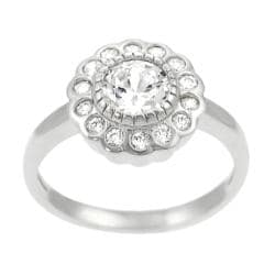 Tressa Collection Round Sterling Silver CZ Bridal & Engagement Ring