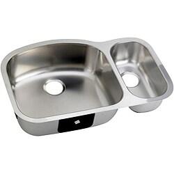 DeNovo Double-basin D-shaped Steel Kitchen Sinks (Case of 26)