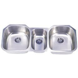 DeNovo Triple-bowl Stainless Steel Undermount Kitchen Sinks (Set of 4)