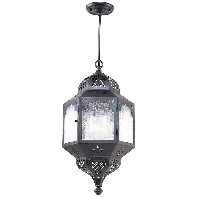 Indoor/ Outdoor 1-light Bronze Pendant