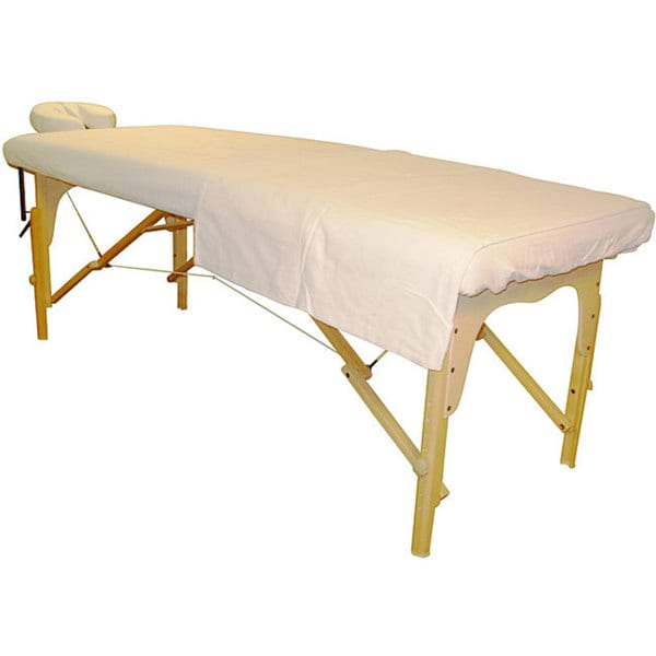 Massage Table White Sheet and Face Cover Set