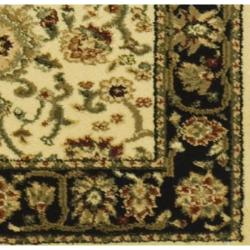 Safavieh Lyndhurst Collection Majestic Ivory/ Black Runner (2'3 x 6')