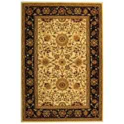 Lyndhurst Collection Majestic Ivory/ Black Rug (4' x 6')