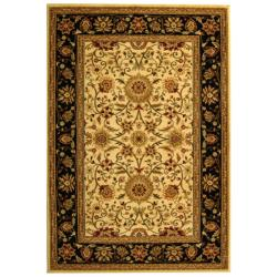 Lyndhurst Collection Majestic Ivory/ Black Rug (9' x 12')
