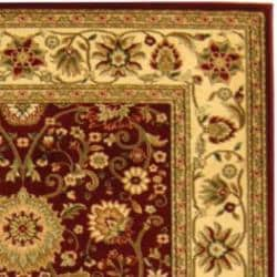 Lyndhurst Collection Majestic Red/ Ivory Rug (4' x 6')