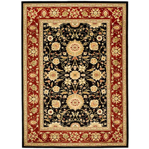 Safavieh Lyndhurst Collection Majestic Black/ Red Rug (4' x 6')