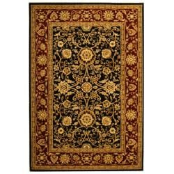 Lyndhurst Collection Majestic Black/ Red Rug (9' x 12')