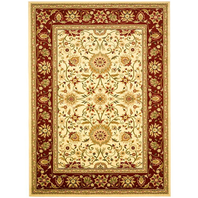 Safavieh Lyndhurst Collection Majestic Ivory/ Red Rug (4' x 6')