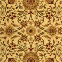 Lyndhurst Collection Majestic Ivory/ Red Rug (9' x 12')