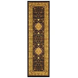 Lyndhurst Collection Mashad Black/ Ivory Runner (2'3 x 6')