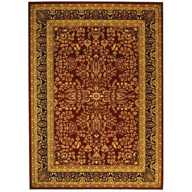 Safavieh Lyndhurst Collection Persian Treasure Red/ Black Rug (4' x 6')
