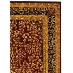 Lyndhurst Collection Persian Treasure Red/ Black Rug (4' x 6')