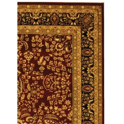 Lyndhurst Collection Persian Treasure Red/ Black Rug (9' x 12')