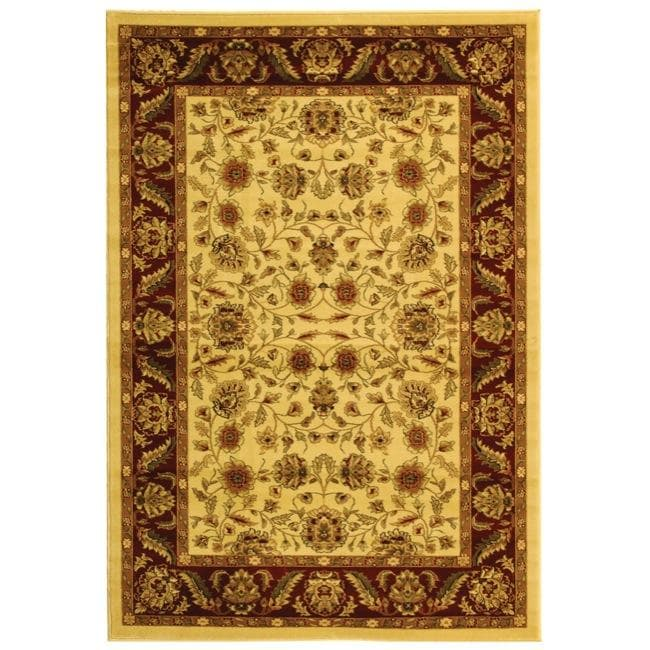 Safavieh Lyndhurst Collection Tabriz Ivory/ Red Rug (4' x 6')