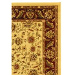 Lyndhurst Collection Tabriz Ivory/ Red Rug (4' x 6')