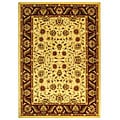 Lyndhurst Collection Tabriz Ivory/ Red Rug (9' x 12')
